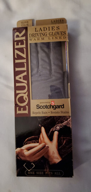 Ladies Equalizer By Berkshire Lined Driving Gloves- Scotchguard Black One Size (081715788070)