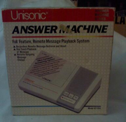 Unisonic Answer Machine Full Feature Remote Message playback system Model 8719A