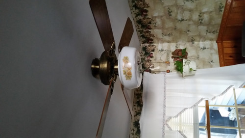 Ceiling Fan with 2 bulb Light Kit (kf3)