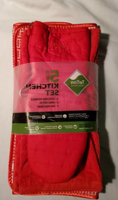 5 piece Kitchen Set Teflon Home Textiles (848405033083) (