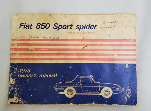 Fiat 850 Sport Spider 1973 owner manual (850)