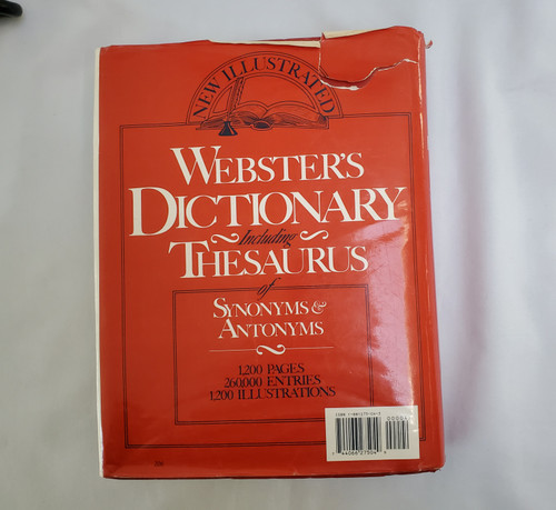 Webster's Dictionary and Thesaurus of Synonyms and Antonyms (1-881275-04-3 )