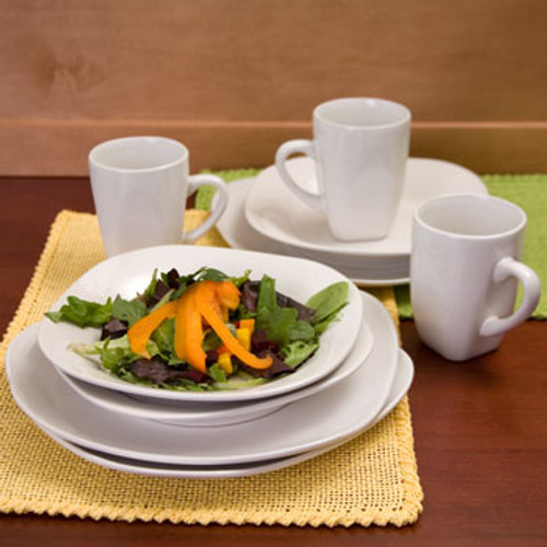 Classic White Stoneware Dinnerware Buy the Dozen Deal Mix n' Match any Dozen