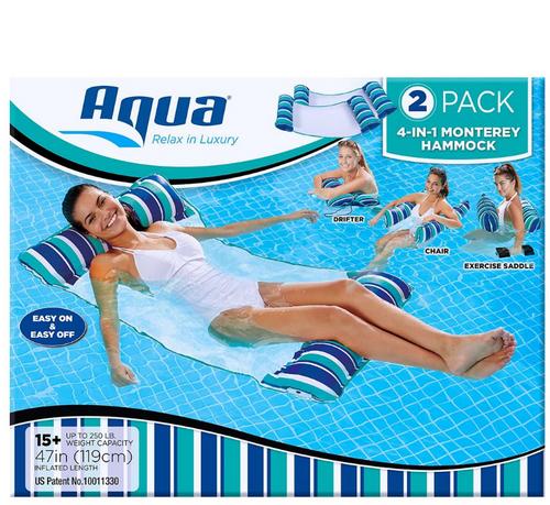 Aqua Monterey Hammocks, 2 pk. (AQL18953X2BJ )