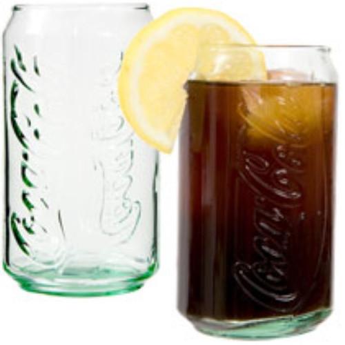 Coca-Cola Can-Shaped Green Beverage Glasses, 12-oz. Case Lot (165403