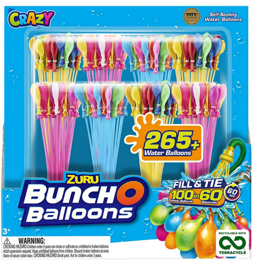 ZURU Bunch O Balloons Rapid Fill Water Balloons, 280 ct. ( 56266TQ1-S001A-AA )
