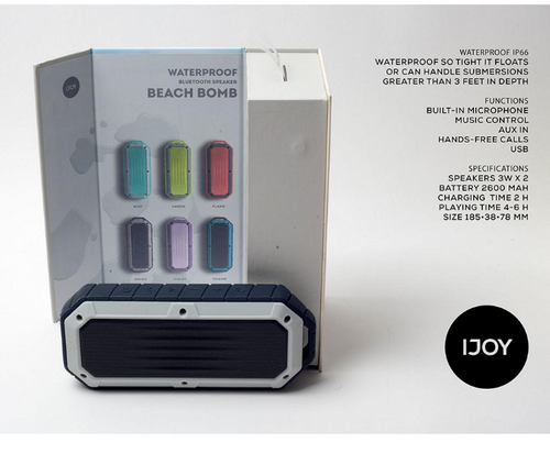 iJoy Beach Bomb Waterproof Speaker - Black