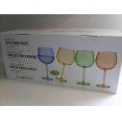 CreativeWare Colored Acrylic Wine Goblets - 8 pcs. Set (089786455938) (
