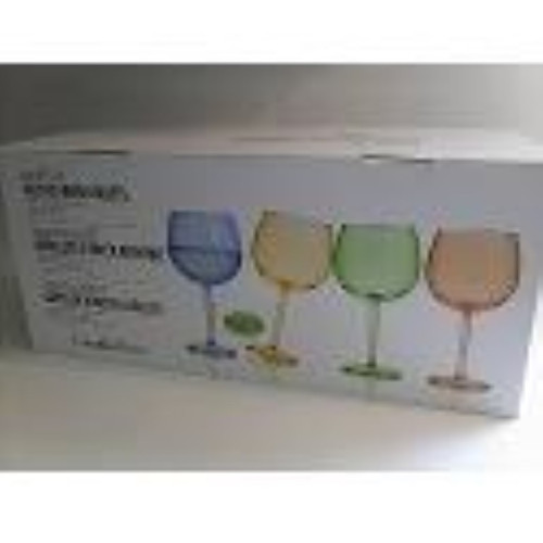 CreativeWare Colored Acrylic Wine Goblets - 8 pcs. Set (089786455938) (