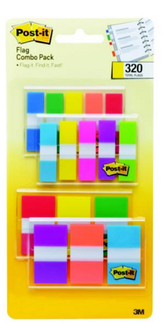 Post-it Flags Combo Pack, 320 ct. ( 683-XL1)