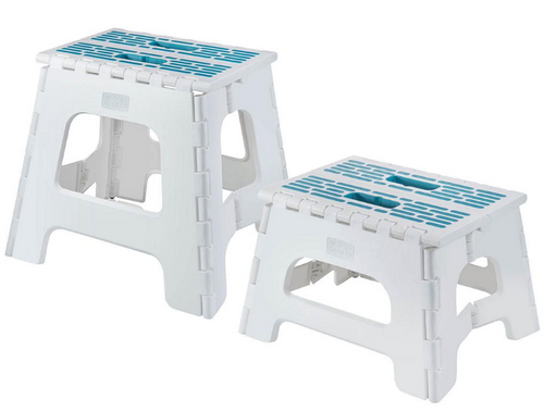 Black and Decker Folding Step Stools, 2 pk. (BD0076 )
