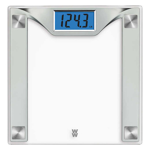 WW Scales by Conair Digital Weight Glass Scale with High Contrast Digital Display - Clear Glass (WW429PDQ )