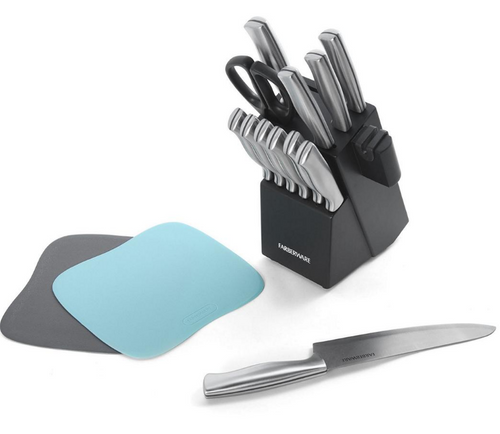 Farberware Edgekeeper 15 Piece Stainless Steel Knife Block Set with Built In Sharpener (5256862)