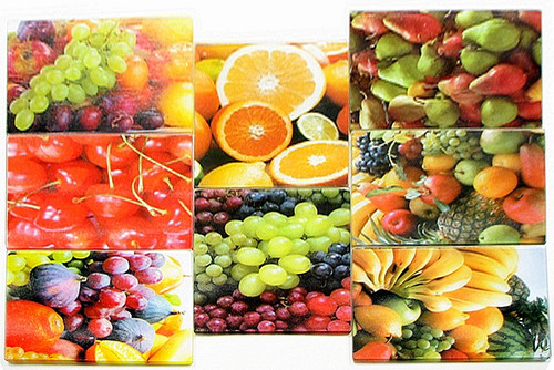 Fruit Cutting Board/Hotplate choose from 8 pattern (0126-0440 )