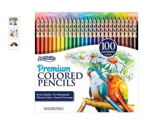 ArtSkills Colored Pencils Sets, 100 Count ( PA-6635)
