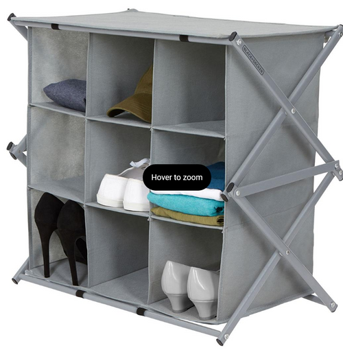 Black & Decker Collapsible 9-Pair Shoe Cubby (BD0074 )