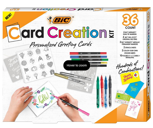 BIC Card Creation Kit Personalized Greeting Cards (KCMP22-A-AST)
