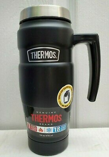 Thermos 16 oz. Stainless Vacuum Insulated Stainless Steel Travel Mug (041205723417)
