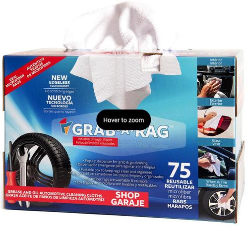 Grab A Rag Reusable Microfiber Rags, 75 pk. ( MPX-GAR75B )