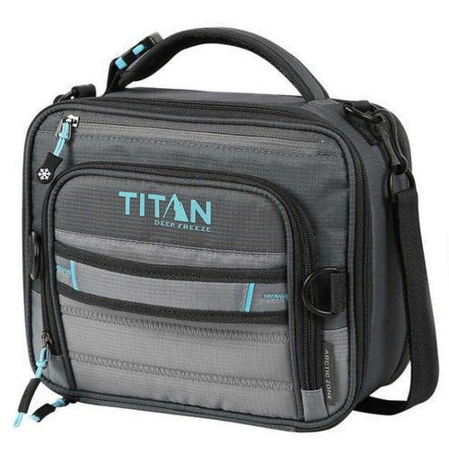 Titan Deep Freeze Expandable Lunch Box with 2 Ice Walls COLOR GRAY/TEAL (061282000461 )