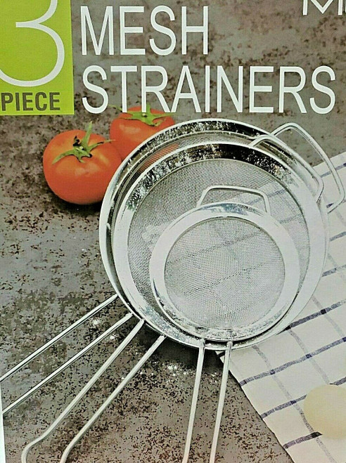 Stainless Steel MiU Mesh Strainers 3 Piece Set - Large,Medium,Small ( 1415597)