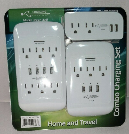 Charging Essentials Home & Travel Combo Charging Set