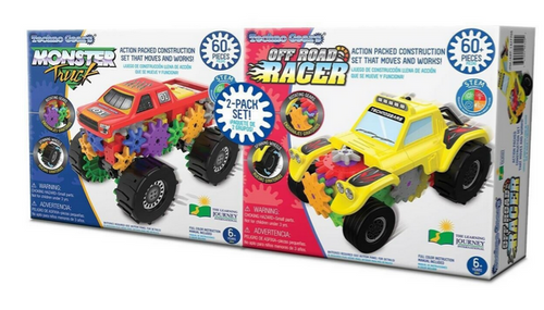 Techno Gears Monster Truck & Off Road Racer 2 Pack Construction Set (657092903292)