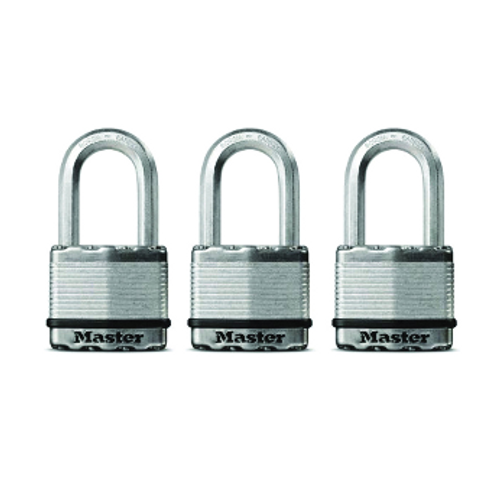 Master Lock Magnum M5XTRILHCCSEN Keyed Padlock, 2 in W Body, 2 in H Shackle, Stainless Steel (071649132230)