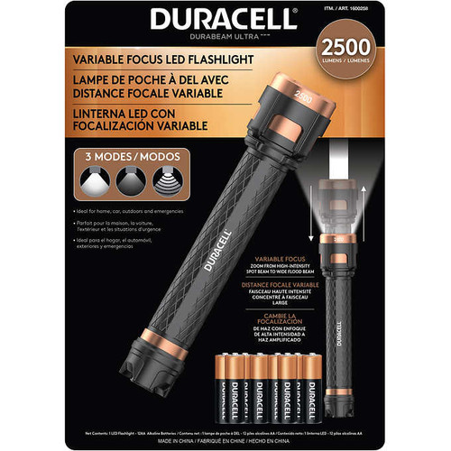 Duracell 2500 lumens LED Flashlight (1600258)