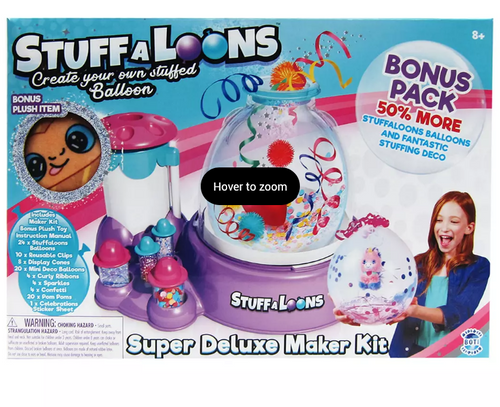 StuffALoons Super Deluxe Maker Kit with Bonus Plush (9487 9PC TRAY STUFF-A-LOONS DE )