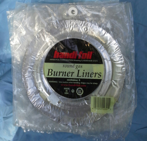 HANDI-FOIL 5Pk Round Gas Burner Liner Range Drip Pans (052092203012)