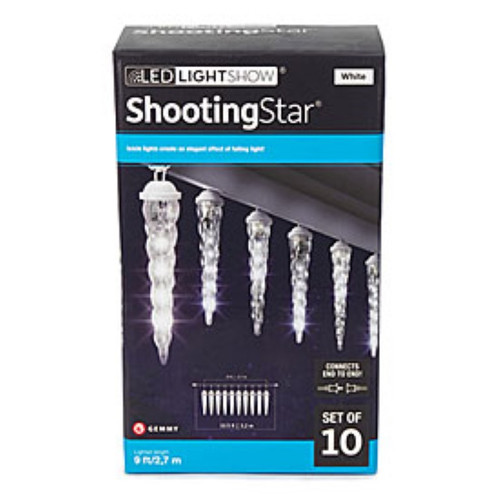 Gemmy Shooting Star LED Icicle Light Set, 10-Lights (gs10)