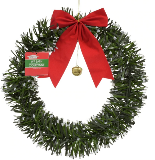 Garland Wreaths with Bows & Decorative Bells