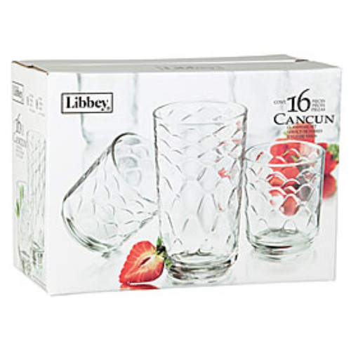 Libbey® Cancun 16-Piece Glassware Set (18499)