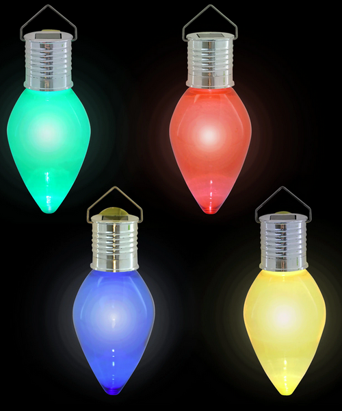Christmas Colored Holiday Light Bulb Solar Lights Mix n Match (316824)