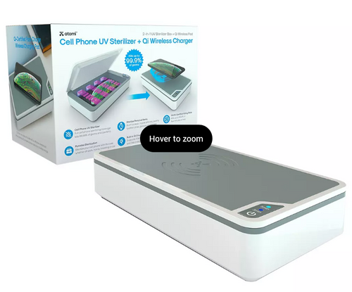 Atomi UV Smartphone Sanitizer with Wireless Charging (AT1502)