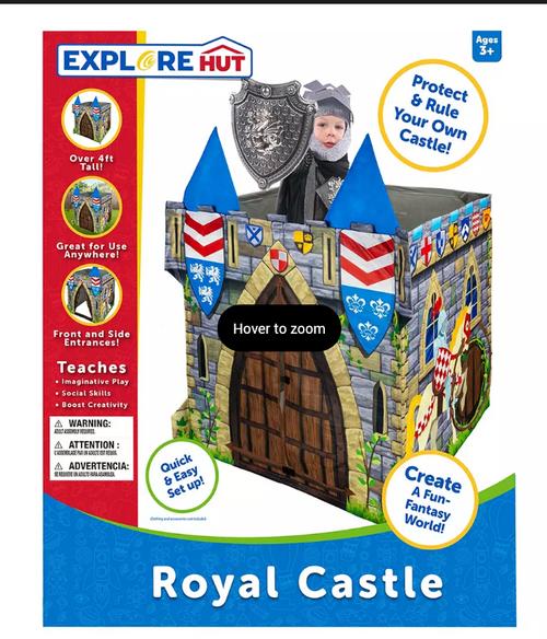 ExploreHut Castle Play Structure - Medievil Castle (247479001 )