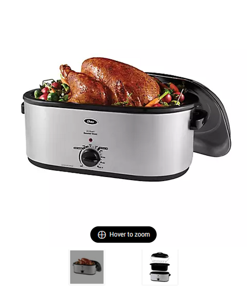 Oster 22QT Roaster with Self-Basting Lid - Stainless Steel ( 254135 )