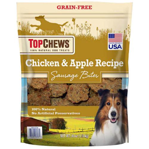 Tyson Top Chews Chicken & Apple Recipe 100% Natural Dog Treats (1007880)