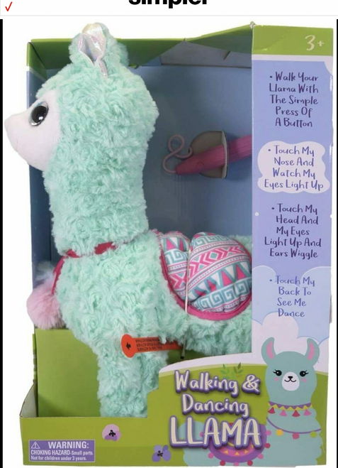 Animated Walking and Dancing Llama with Leash Lights and Sound (034054117407)