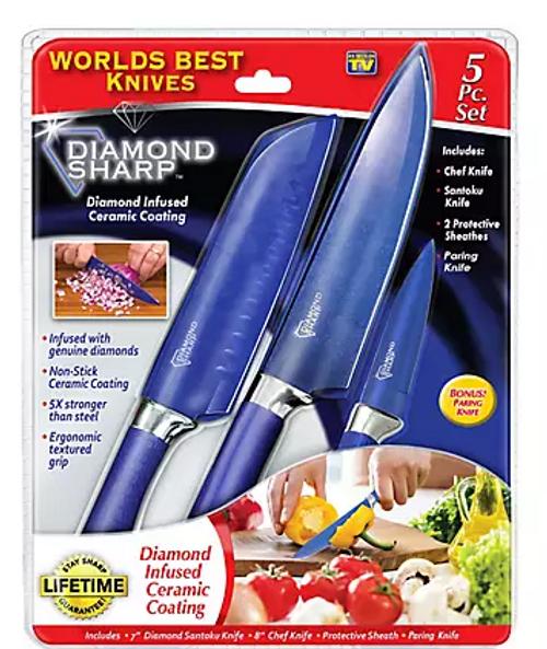 Diamond Sharp 5-Pc. Knife Set ( 253079 )
