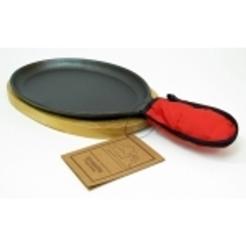 Old Mountain Cast Iron Preseasoned Fajia or Griddle Grill Pan