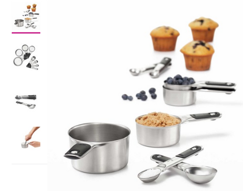 OXO Stainless Steel Measuring Cups and Spoons Set, 8-piece (719812614021)