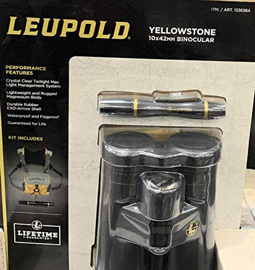 Leupold Yellowstone 10x42mm Binocular (Black) (030317023782)