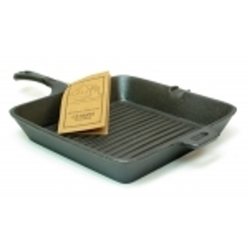 Old Mountain Cast Iron Preseasoned Square Grill Skillet choice of 2 styles (0166-10108)