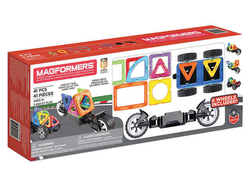Magformers Amazing Wheels 41 Piece Magnetic Building Blocks Set (730658401040)
