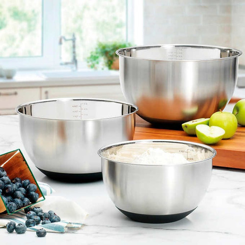 MIU Stainless Steel Mixing Bowls, Set of 3 ( 1371786)