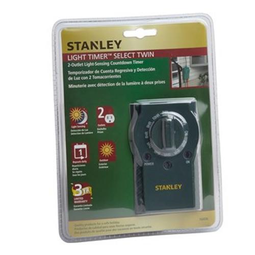 Stanley® 2-Outlet Light-Sensing Timer (31775014 )