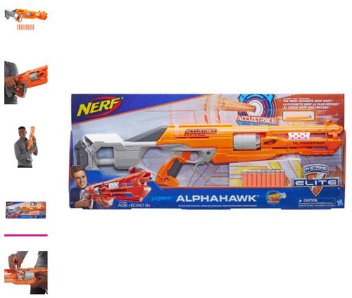 Nerf N-Strike Elite AccuStrike Series AlphaHawk, with 10 Nerf darts (B7784)