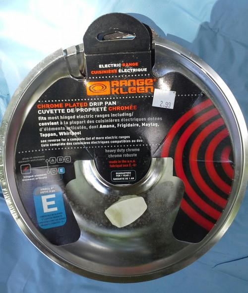 Range Kleen 104-A 8 Inch Chrome Universal E Drip Pan